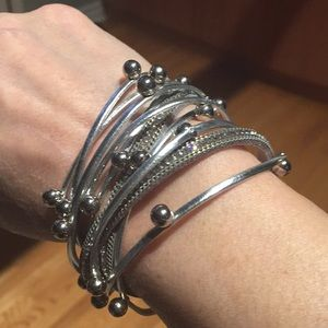 Fun and fancy silver wrap bracelet.